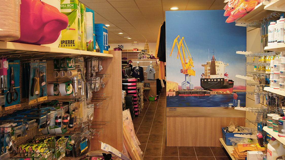 D coration fresques trompe l 39 il peintures d coratives pour commerces et entreprises - Restaurant port de commerce brest ...