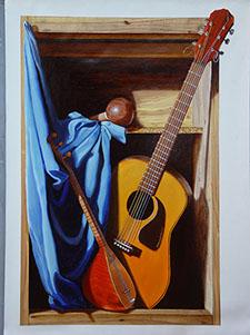 Peintures artistiques sur toiles for Peinture trompe l oeil tableau