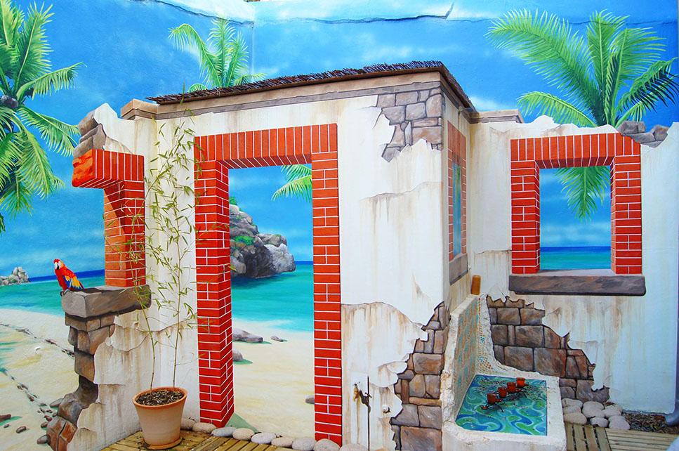 fresques et peintures murales pour particuliers. Black Bedroom Furniture Sets. Home Design Ideas