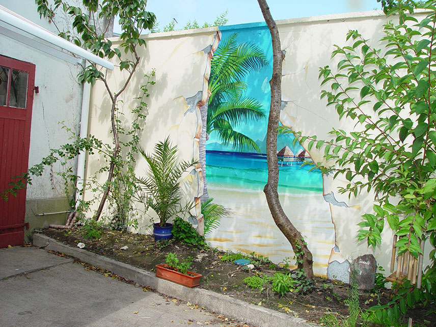 Peinture Murale Trompe L Oeil fresques-murales-peintures-trompe-l-oeil-décorative-intérieures